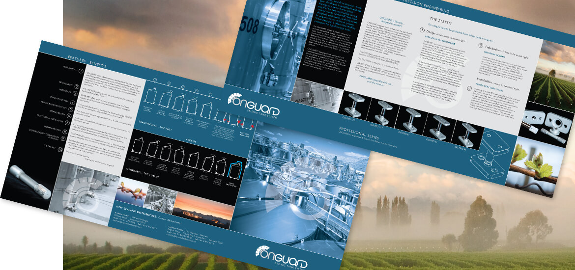ONGUARD . 6PP TRIFOLD BROCHURE